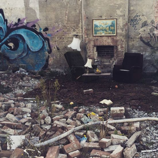 There's nothing to see here. Christchurch Graffiti Random Abandoned Architecture Armchair Brick Citycenter Destruction Earthquake Area Fence Lamp Newzealand Outdoors Quakecity Sad Streetphotography Streetsart