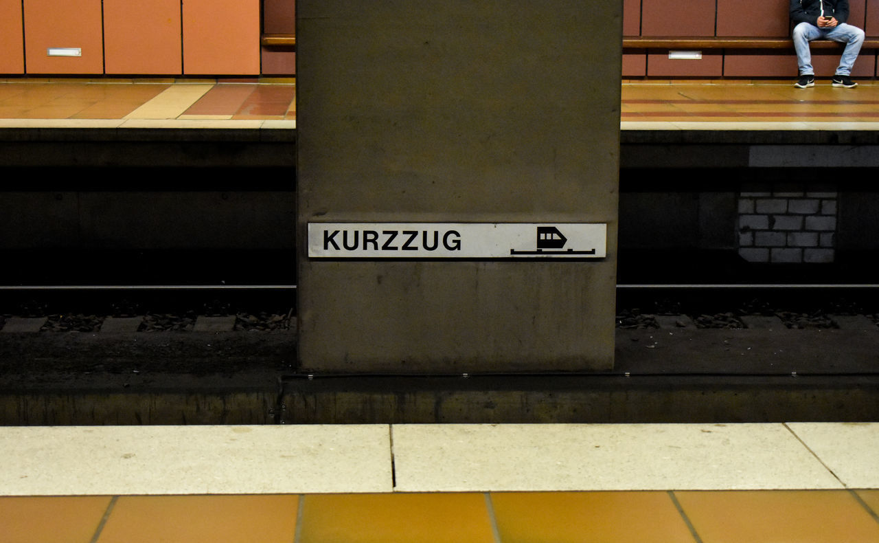 TEXT ON RAILROAD STATION