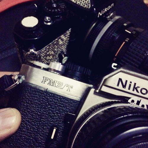 my vintage toys, Nikon FE custon with Lizzard Skin and Nikon FM2/T Nikon Fm2 Nikon