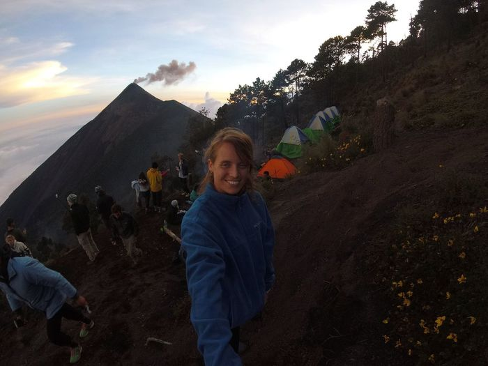 Guatemala Gopro Guatemala Acatenango Amazing Volcano People Adults Only Adult Smiling Outdoors Only Women Cheerful Mountain Happiness Nature