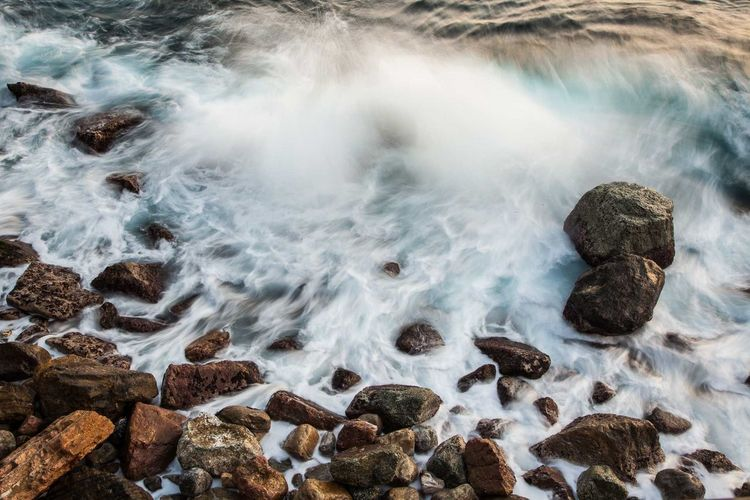 Beach Beauty In Nature Cinque Terre Day Horizon Over Water Italy Liguriansea Long Exposure Motion Nature No People Outdoors Power In Nature Rock - Object Scenics Sea Sky Water Wave