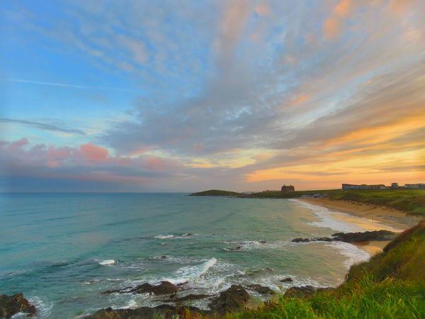 Atlantic Ocean Beautiful Cornwall Love Cornwall Water Sea Sunset Wave Beauty Blue Sand