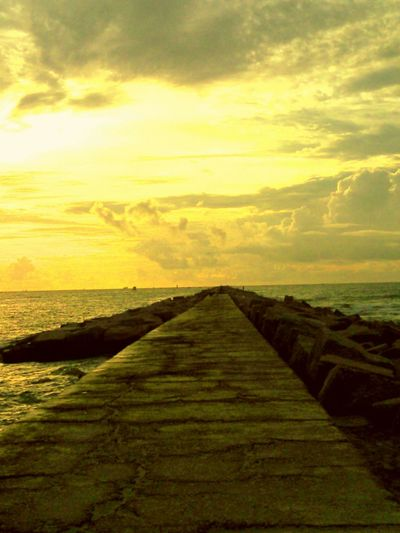 Port Aransas Jetty is a Popular place to be, for fishing, walking, cast netting, swimming. Most of all it has beautiful sun rises and at the very end of the jetties you can watch the dolphin play and the king fish jump, while the big ships rest until they are able to enter the channel.
