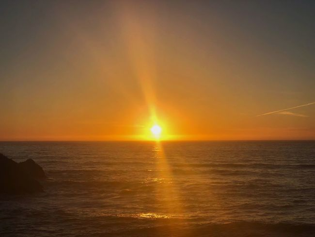 Sunset Sea Beauty In Nature Scenics Horizon Over Water Sun Nature Orange Color Tranquility Outdoors Silhouette