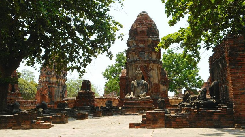 Religion Spirituality Tourism Travel Destinations Architecture Old Ruin Statue Ayutthaya Buddhist Temple Buddha Ancient Travel Photography Ayutthaya Historic Park Buddhist Budismo Ancient History Archaeology Ancient Civilization Built Structure Spirituality Thai Architecture Tailandia. Place Of Worship Tailandia