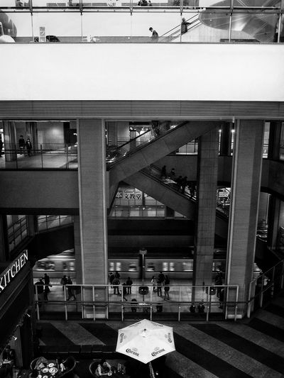 Lookingdown Subway Architecture Escalator From My Point Of View People Watching People Photography みなとみらい駅 Minatomirai Subway Station Urban Lifestyle Black And White Monochrome Light And Shadow Urbanphotography EyeEmbestshots EyeEmBestEdits EyeEm Best Shots - Black + White