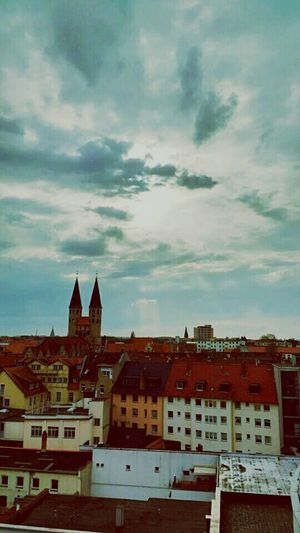 A storm is coming Clouds And Sky Cityscapes Brunswick Braunschweig Church Houses Rooftops