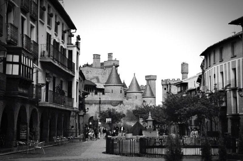 B&w Street Photography Taking Photos Street Photography Black & White Olite Castle Castillo De Olite Medieval Village