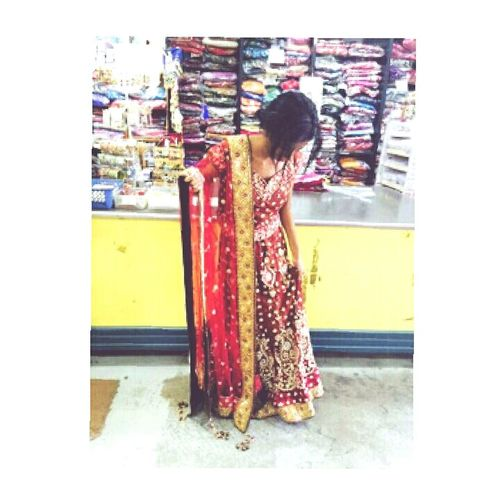 Just casually trying out Indian wedding outfits for the shop lady :) Notgettingmarriedfortgenextfiftyyears Kthxby