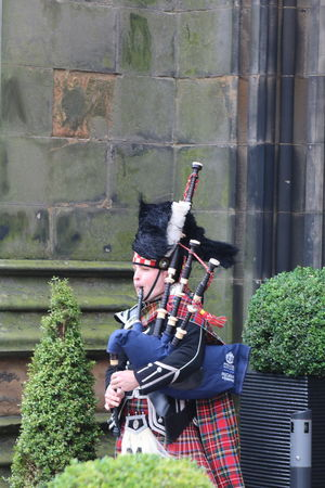 Bag Piper Bag Pipes Day Outdoors Scotland Tradition Traditional Clothing Wall - Building Feature Windy Day