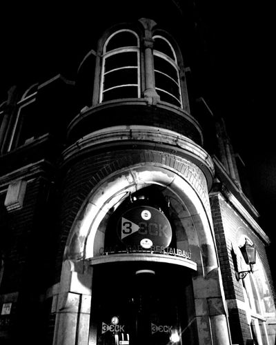 entrance of a little pub Old Buildings Doors Black And White Black & White