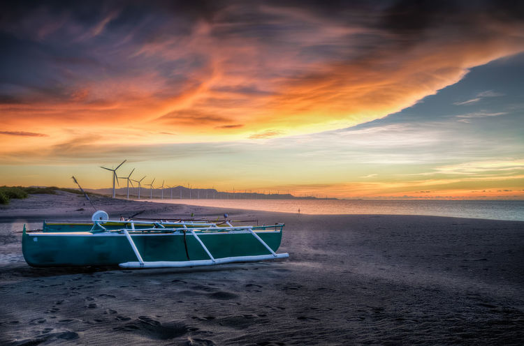 Beach Beachday Beachlife Beauty In Nature Boat Dramatic Sky Island Landscape Nature Nautical Vessel No People Outdoors Paradise Romantic Sky Sand Scenics Sea Sky Skylovers Sunset Sunset_collection Sunset Madness Tranquility Travel Destinations Water
