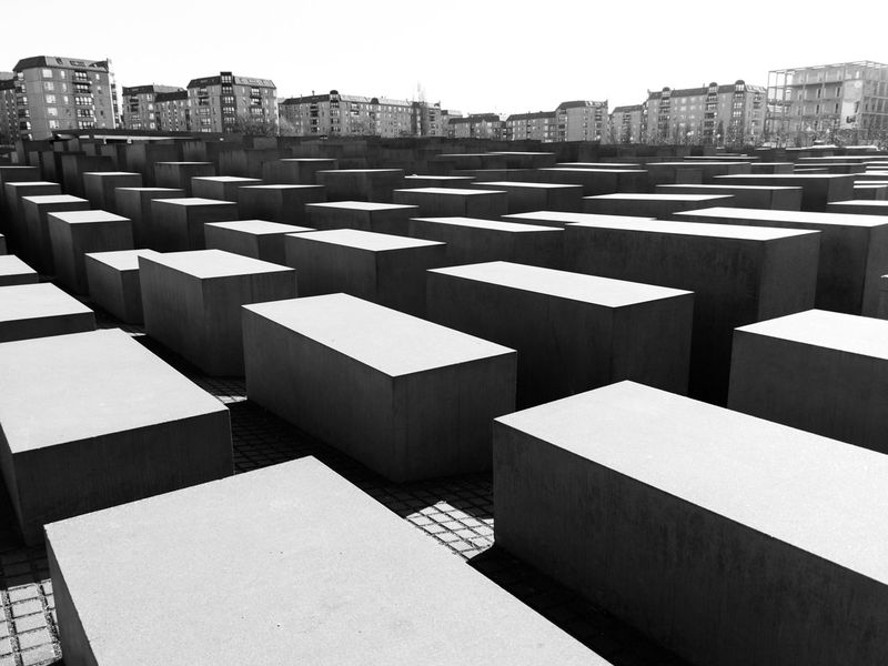 Berlin Blackandwhite High Angle View Holocaust Memorial In A Row Leading Light And Shadow Modern Pattern Shadow