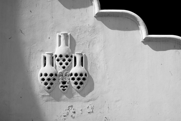 Secret Aspects by Anna Wacker Architecture Abstract Hole Old Black And White Shadow Sunlight Wall Day White Close Up Monochrome Indoors  Relief Close-up No People Rhodos, Greece  Rhodes Greece White Color Built Structure Wall - Building Feature Italian Colonial Architecture Kallithea Thermae Copy Space