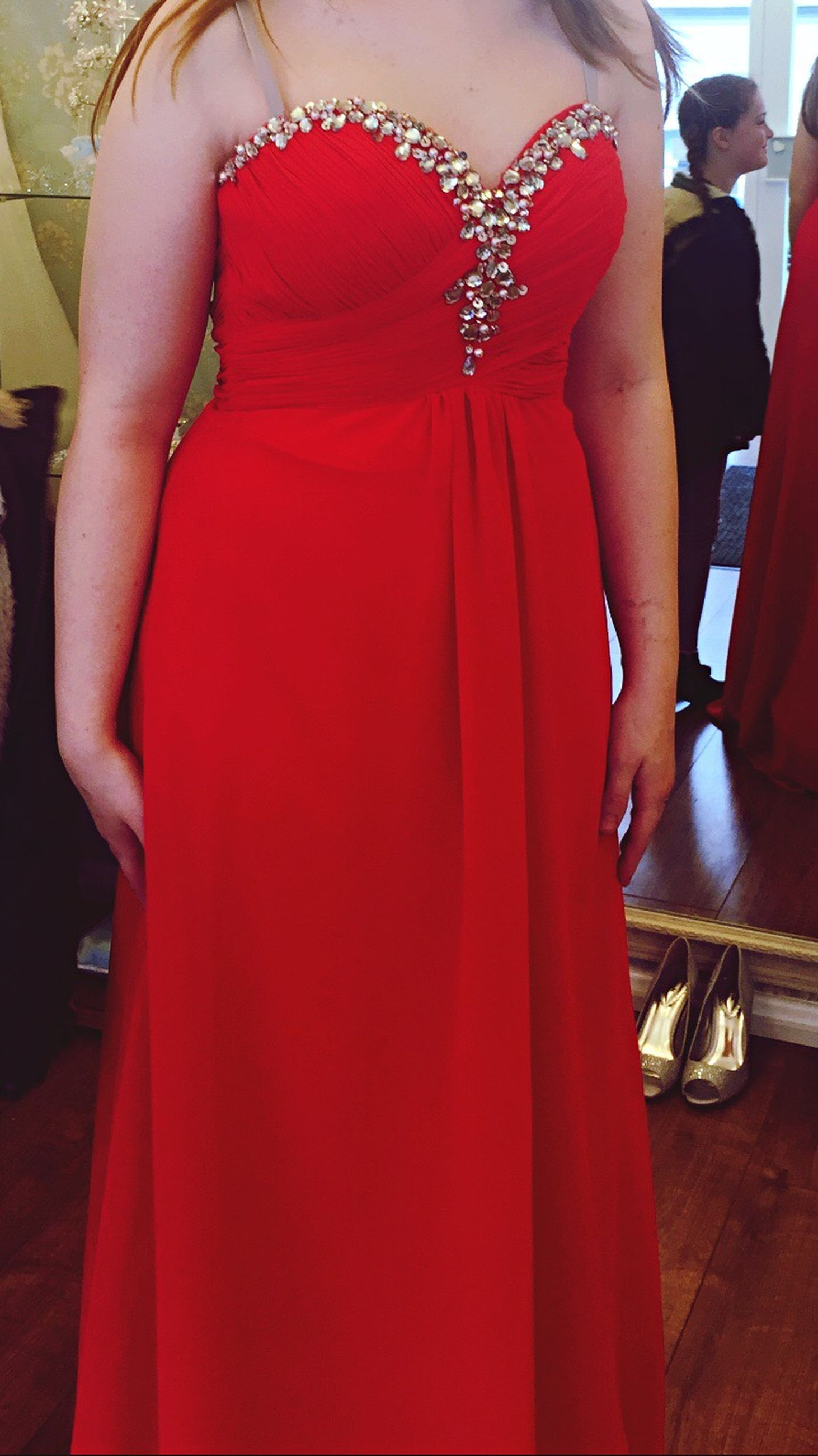 red, elegance, evening gown, adults only, women, glamour, people, indoors, adult, togetherness, well-dressed, day