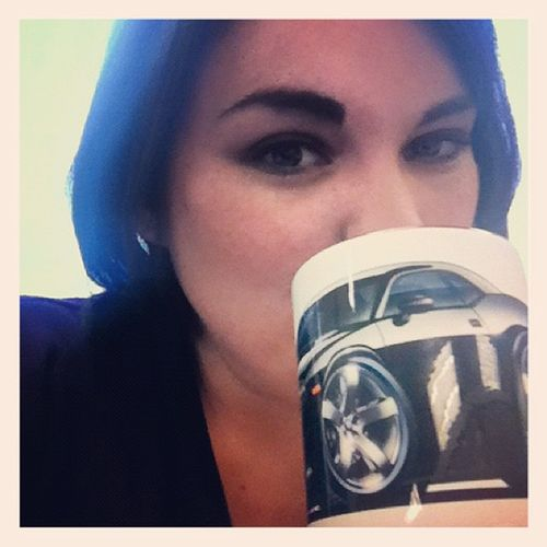 I don't drink Coffee often, but when I do, I drink from a cup with a Sexy car on it ?