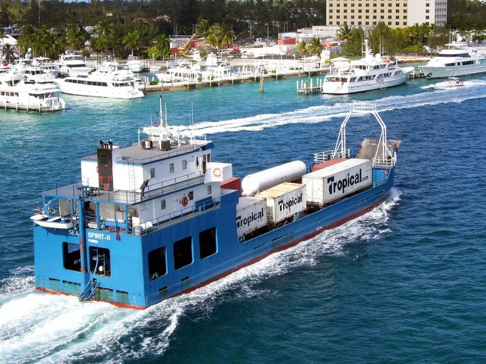 Boat Day Freight Mail Boat Mode Of Transport Motion Nature Nautical Vessel No People Outdoors Sea Shipping  Transportation Tropics Water Waterfront