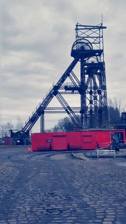 Business Finance And Industry Red Cloud - Sky Day No People Outdoors Sky Golf Club coal mining pit head