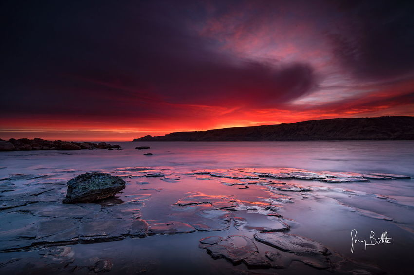 Runswick Bay at sunrise. Sunrise Landscape Sky Beauty In Nature Low Tide Sunrise_sunsets_aroundworld EyeEm Best Shots - Landscape Eye4photography  Landscape_photography North Yorkshire Sony A6500 England, UK Seascape Seascape Photography Beach Photography Landscape_Collection Clouds And Sky Dawn Of A New Day