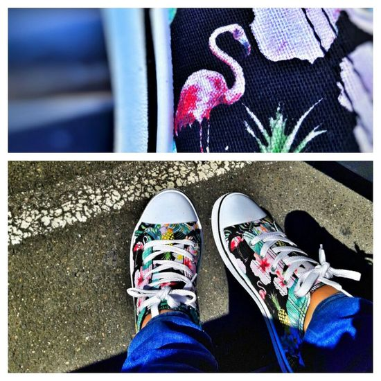 Achat du jour 💖 Shoe Human Leg One Person Lifestyles EyeEm Best Shots EyeEmBestPics France Animal Themes Pink Flamingos Pink Flamingo Shoes Shoeselfie Personal Perspective