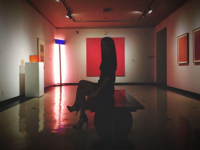 Woman standing on floor