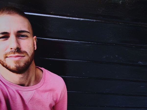 Pink. Young Men Young Adult Headshot Handsome Thoughtful Outdoors Guy Boy Gay Photooftheday First Eyeem Photo
