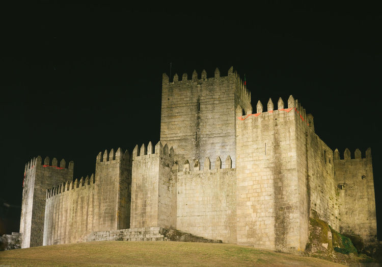 Guimarães Castle, summer nigh Ancient Ancient Civilization Architecture Building Exterior Built Structure Castle Fort History Night No People Old Ruin Outdoors Sky Travel Travel Destinations