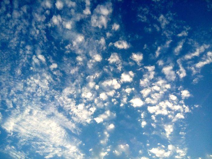Sky in19:00 Backgrounds Blue Sky Only Full Frame Sky Cloud - Sky