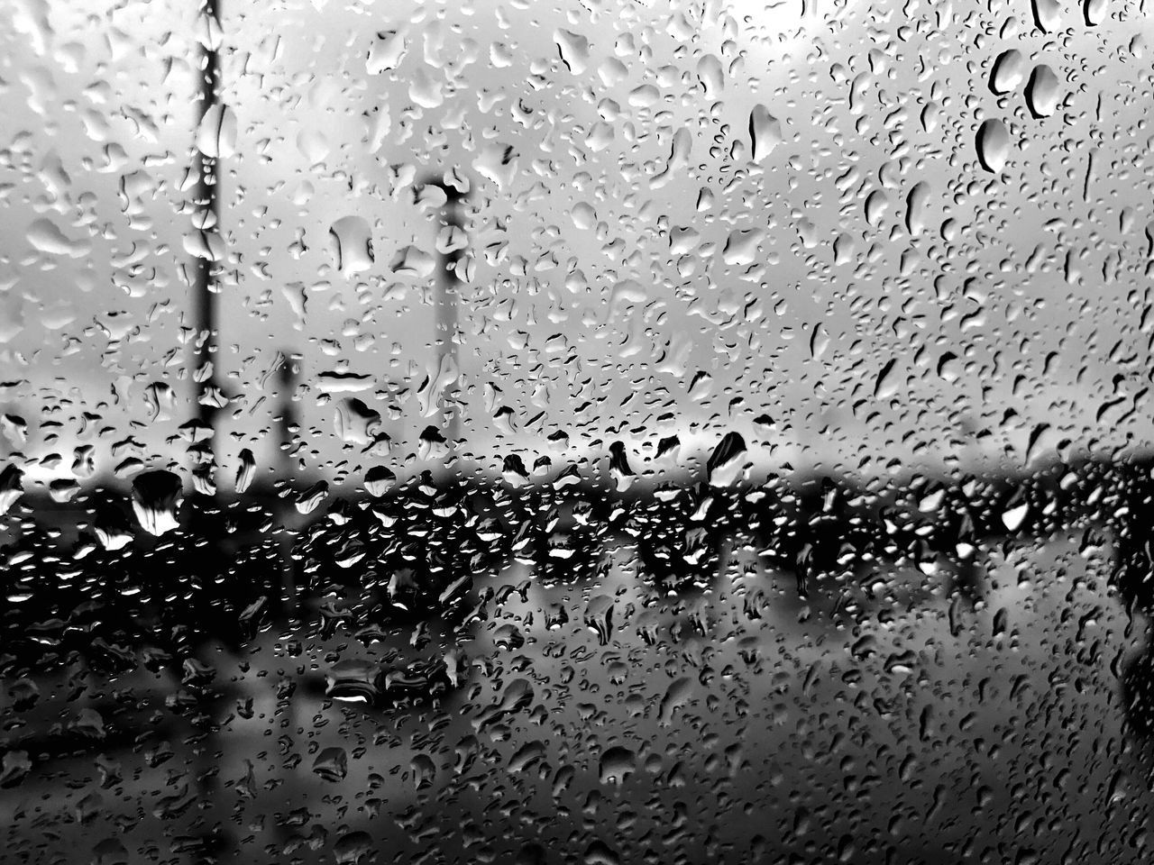 drop, water, rain, wet, transparent, glass - material, window, full frame, raindrop, weather, indoors, rainy season, backgrounds, no people, car, close-up, condensation, land vehicle, car interior, day, nature, freshness, sky