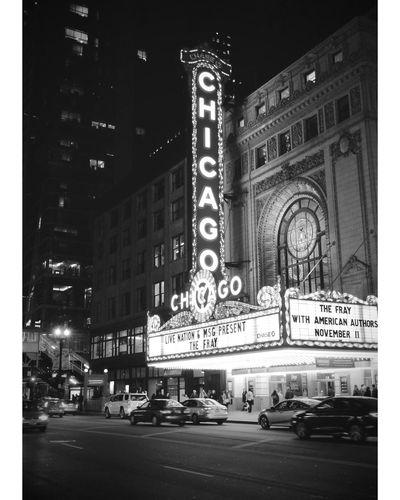 Da Loop Building Exterior City Architecture No People Outdoors Illuminated Night Skyscraper Chicago Straightoutofcamera Eyemphotography Fujixseries Blackandwhitephotography City Landscape CityWalk
