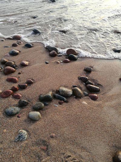 Pebble Beach Water Sand Dune Beach Sea Sand Backgrounds Full Frame Pebble Sunlight