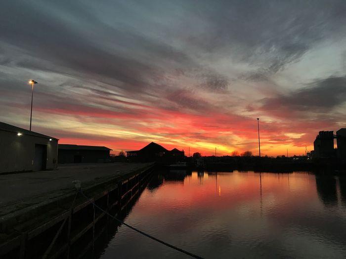 Kingslinn England England, UK Ship Sailor Sunset Sky Cloud - Sky Reflection Outdoors