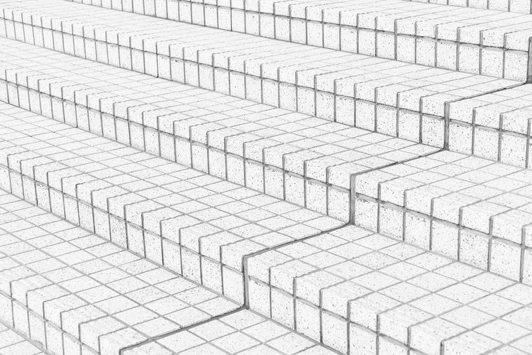Full frame shot of white steps