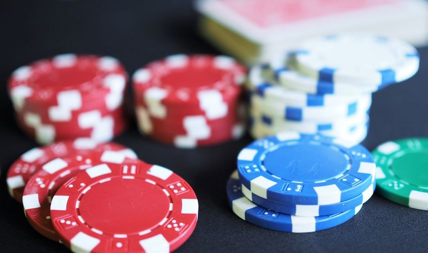Casino Chance Close-up Day Dice Focus On Foreground Gambling Gambling Chip Indoors  Large Group Of Objects Leisure Games Luck Multi Colored No People Poker - Card Game Red RISK Stack Still Life Table Variation
