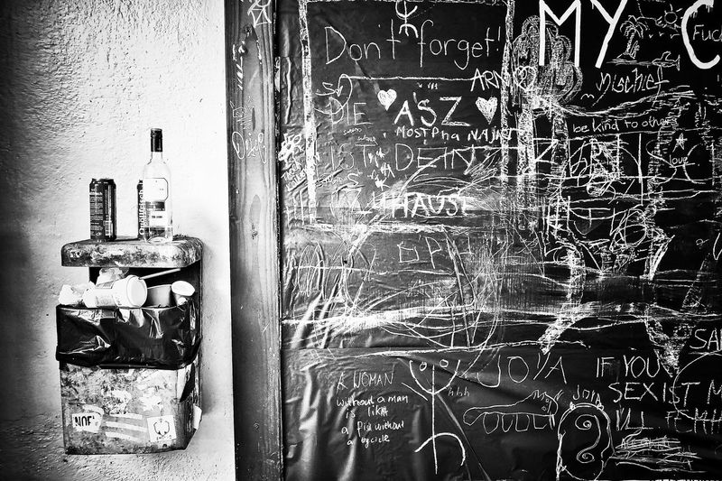 Artworks Zürich Cityphotography City View  Bottle Urbanphotography Wallart Photographer Blackandwhite Photooftheday Photography Picoftheday Full Frame No People Door Entrance Close-up Architecture Wall - Building Feature