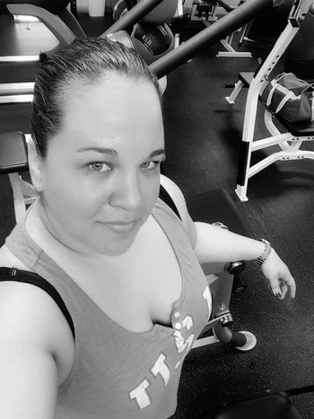Black And White Photography Black And White At The Gym Those Eyes No Excuses Selfieporn Curvy & Beautiful Plus Size Plussizebeauty Less Than Perfect ImNotPerfect Fitnessmotivation Afterworkout Ignorethecleavage