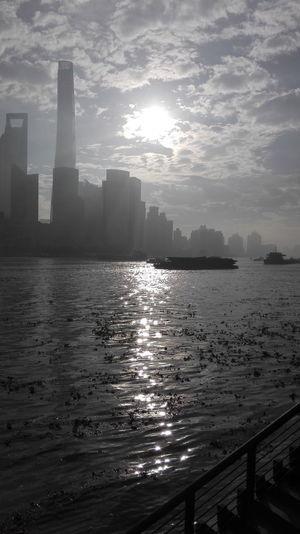 Good Morning Shanghai Sunlight Water Skyscraper Urban Skyline Cloud - Sky Outdoors Scenics Landscape Architecture City