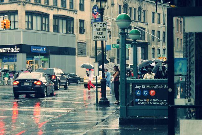 """Rainy Days On Jay Street, Downtown Brooklyn"" Downtown Brooklyn NYC"
