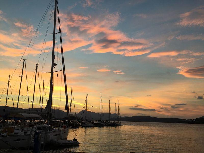 Sunset on Poros Greece