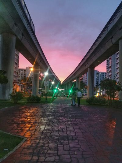 A beautiful way to end the day. Sunset Colors Of Nature Colourful Light Reflections Light Rays Train Tracks Color Of Life