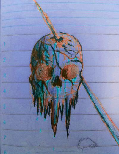 Drawing Enjoying Life Skull Art School Nothingtodo Getting Inspired Gore Zaap'sdraws