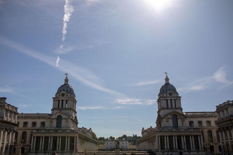 View of buildings against sky in city