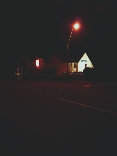 Motel. · Night Night Photography Night Lights Street Lights Lamp Posts