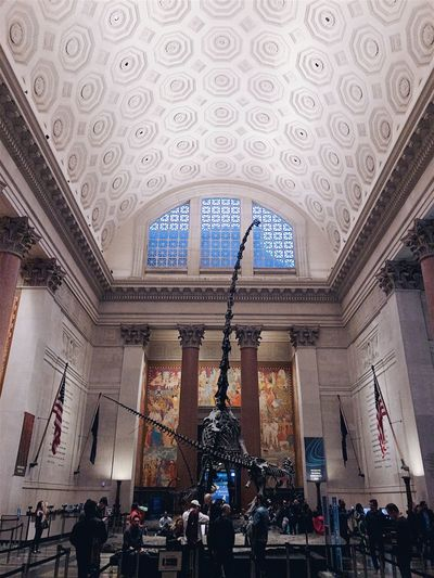 Adult American Museum Of Natural History Arch Architecture Built Structure Day Indoors  Large Group Of People Lifestyles Men Museum People Place Of Worship Real People Religion Spirituality Statue Travel Destinations Women