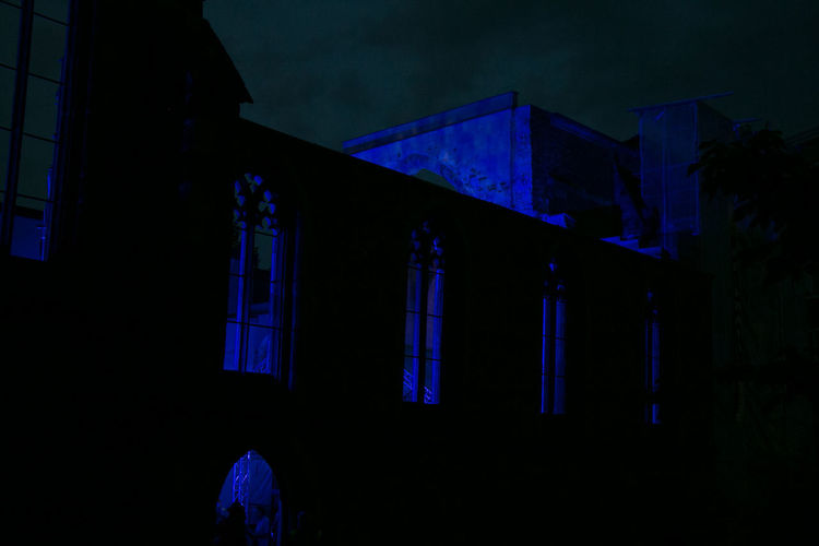 Architecture Black & Blue Black And Blue Photography Blue Blue Church Blue Night Blue Night Nuremberg Building Exterior Built Structure Church Ruin Illuminated Night No People Outdoors Ruin Ruined Building Silhouette Silouette Sky Window Place Of Heart The Architect - 2018 EyeEm Awards