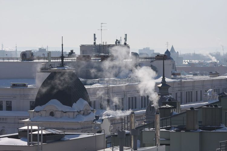 Kazan Architecture Smoke - Physical Structure Environment Water Building Exterior City Sky Nature Social Issues Air Pollution Landscape Environmental Issues No People Industry Built Structure Fog Business Finance And Industry Pollution Steam Smog