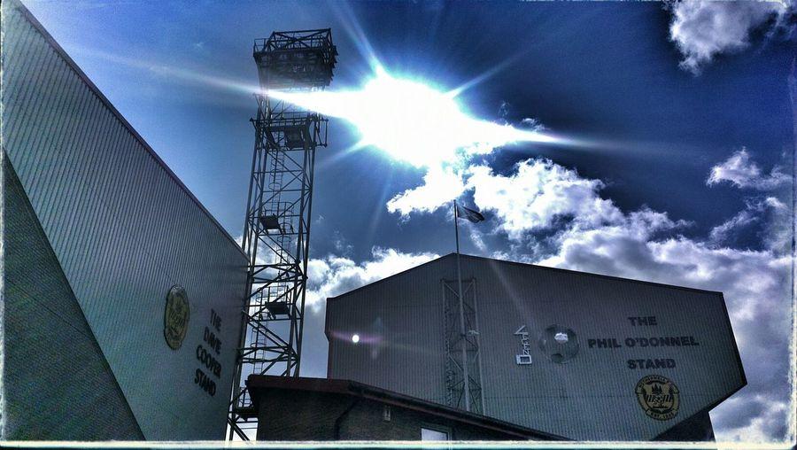 Football Enjoying The Sun Clouds And Sky Stadium