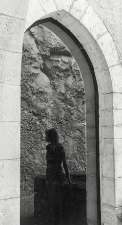 Architecture Black And White Blackandwhite Creativity Day Light And Shadow Pensive People Reflection Reflections Rocamadour Serenity Shadow Silhouette Simple Moment Stone Window Window Reflections Woman Art From My Point Of View Fine Art Photography
