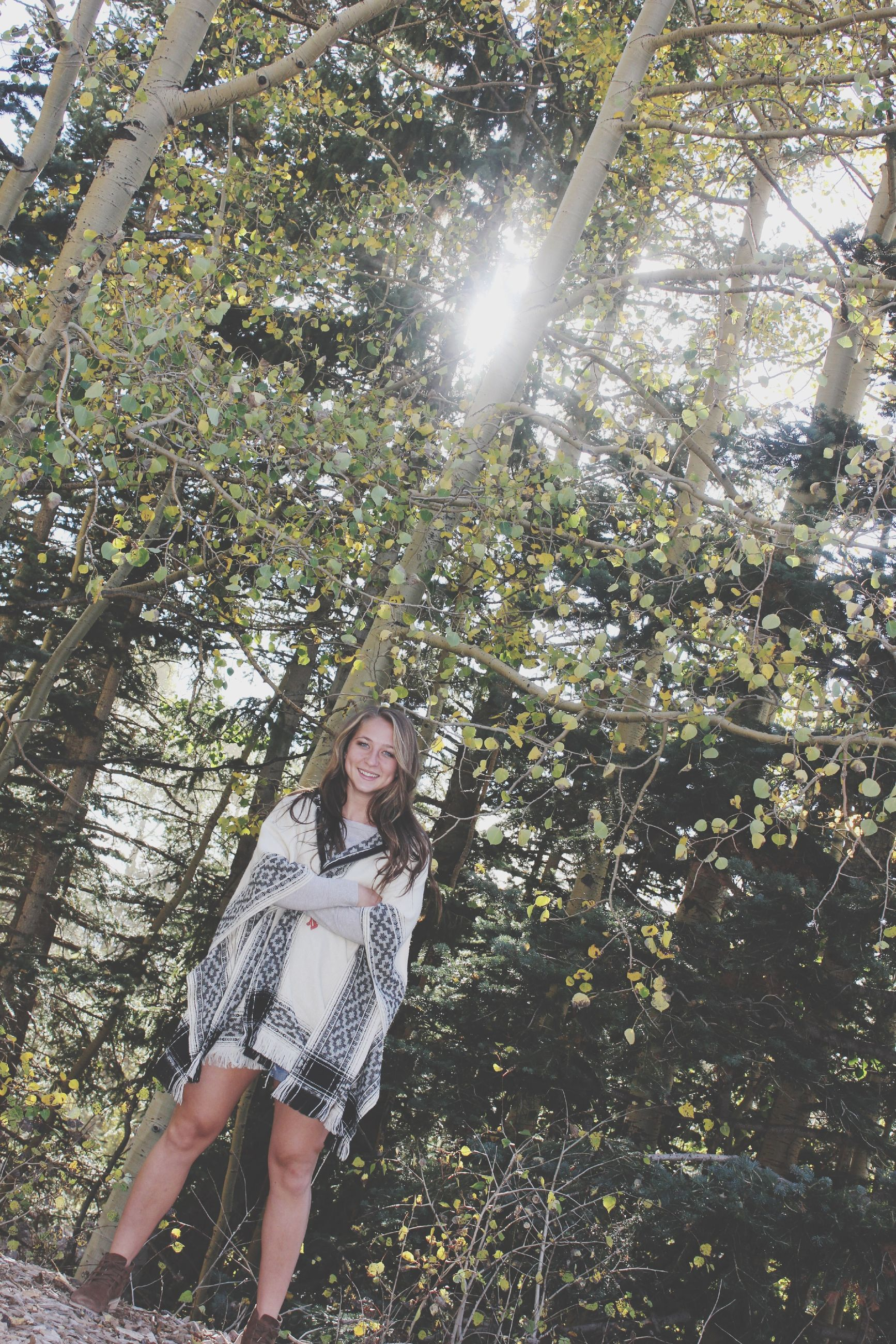 tree, sunlight, lifestyles, tree trunk, leisure activity, branch, low angle view, growth, sunbeam, day, nature, forest, outdoors, holding, sun, lens flare, standing, sunny