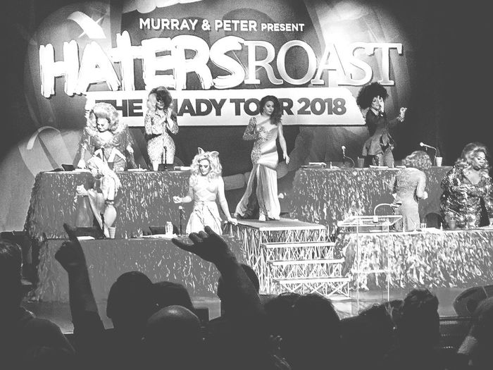 Haters Roast.... Drag Queens Drag Queen Dragqueenshow Dragqueens Dragqueen  Drag Text Arts Culture And Entertainment Crowd Communication Nightlife Illuminated Large Group Of People Indoors  Audience People Day